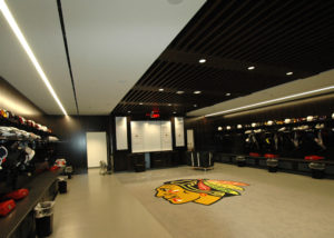 Blackhawks Locker Room